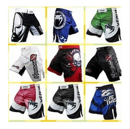 Wholesale mma shorts boxing trunks sport clothes men muay thai shorts multiple style men s mma clothing L XXXL free