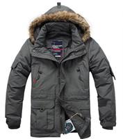 men long coat jacket - New winter Men s down coat Fashion casual warm jacket medium long bags plus size clothing thickening M J001
