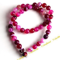 Wholesale 2 FASHION String Plum Agate Stone charm Beads Jade Loose Spacer Bead Fit Chains Bracelet mm