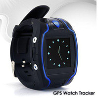 Wholesale Newly Personal Watch Locator GPS Tracker Quad Band Global GSM GPRS GPS Watch Tracker SOS Two Way Calling for Pets Kid Elderly