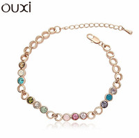 best discount coupons - Best Quality Big Coupon amp Discount Women Bracelet Pulseiras Femininas Bijuterias White Gold Plated Bracelets OUXI BLA006