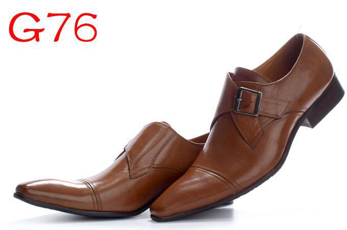New Arrival Italian Brand Men's Brown Dress Shoes Man Leather Walking