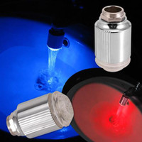 Wholesale 1X Water Color Change Blue cold Red hot Led Faucet Light In Retail Package