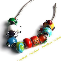 animal beads wholesale - 40x Hot Mixed Animal Chamilia Murano Beads Charms Beads Fit Beads Bracelets DIY Have in Stock