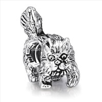 cat charms - Sterling Silver Charm Garfield Cat European Charms Silver Beads for Bracelet Necklace SY