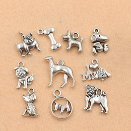 Wholesale pc Mixed Tibetan Silver Plated Animals Dogs Charms Pendants Jewelry Making DIY Charm Handmade Crafts m028