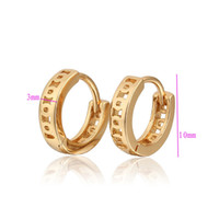 baby earings - Children Earring K Gold Plated Baby Hoop Earrings CC Children s Brinco Earings Fashion E18K