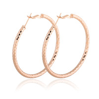 big red hoop earrings - ONLY New Fashion Big Loop Rose Gold Plated Hoop Earrings Jewelry Drop Shipping