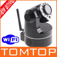 Wholesale Wireless IP Camera WiFi IR Nightvision P T Audio Security Camera Surveillance S86 Not Foscam