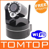 Wholesale Wireless IP Camera WiFi IR Nightvision P T Audio Camera Security Surveillance S86 Not Foscam