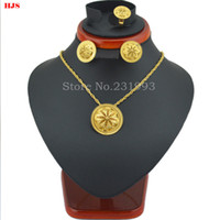 Wholesale New arrival Ethiopian wedding jewelry sets k Gold plated Jewelry African bridal jewelry sets for women