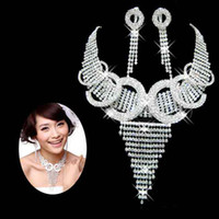 Wholesale nigerian wedding african beads big rhinestone crystal jewellery sets for women bridal