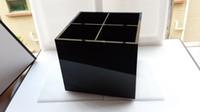 big desktops - Luxury CC Cosmetic Holder Acrylic Makeup Box Big Makeup Tools Make up Brush Desktop Storage Box With Gift Box for Wedding Gift