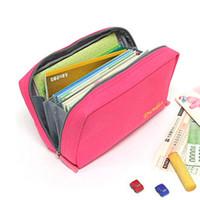 bankbook pocket - New Korean Multi function Canvas Bankbook Pocket Cosmetic Bag Storage Bags