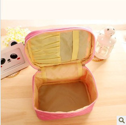 Wholesale New Arrival Barrel shaped Canvas Fashion Solid Cosmetic Bags amp amp Cases Travel Makeup Bag Cosmetic Cases