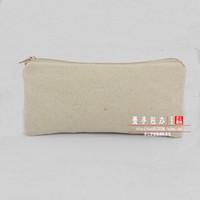 Wholesale Blank canvas bag diy hand painting bag canvas bags pencil case coin pocket canvas wallet