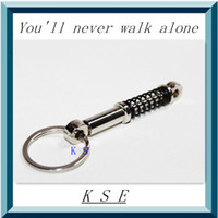 Cheap Wholesale-Promotional Creative Zinc Alloy Shock Absorbers Styling Keychain Auto Parts Bumper Damper Couples gift jewelry Keyring