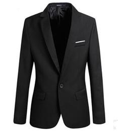 XC185 2015 nueva llega capa men'formal la moda de un solo botón mangas largas delgadas abrigos traje de algodón slim formal single button suit promotion desde traje formal de un solo botón delgado proveedores