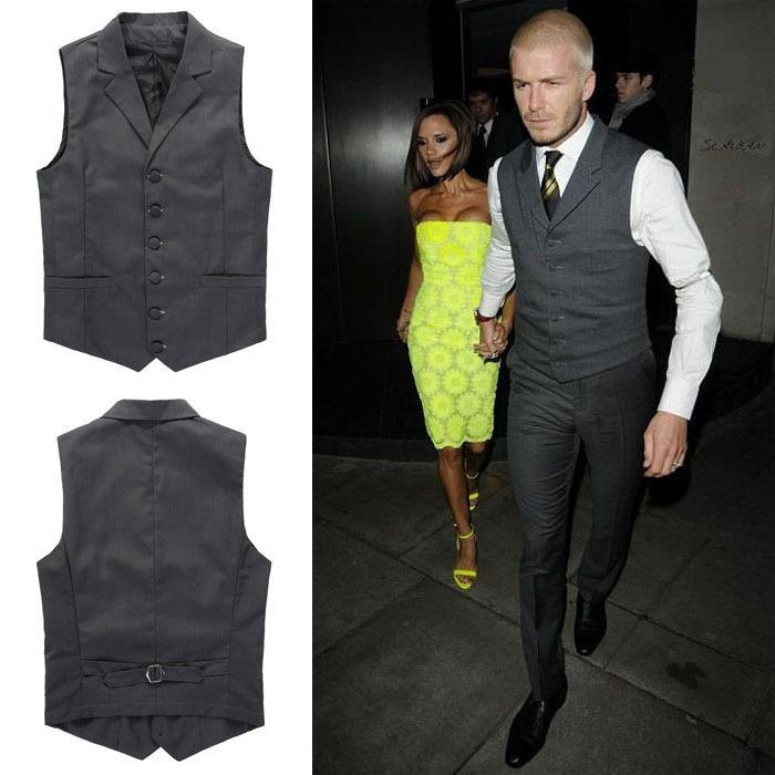2017 Mens Formal Suit Vest Fashion Men Classic Single ...