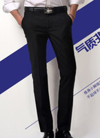 Wholesale Summer male western style trousers business casual black suit pants Men slim formal trousers