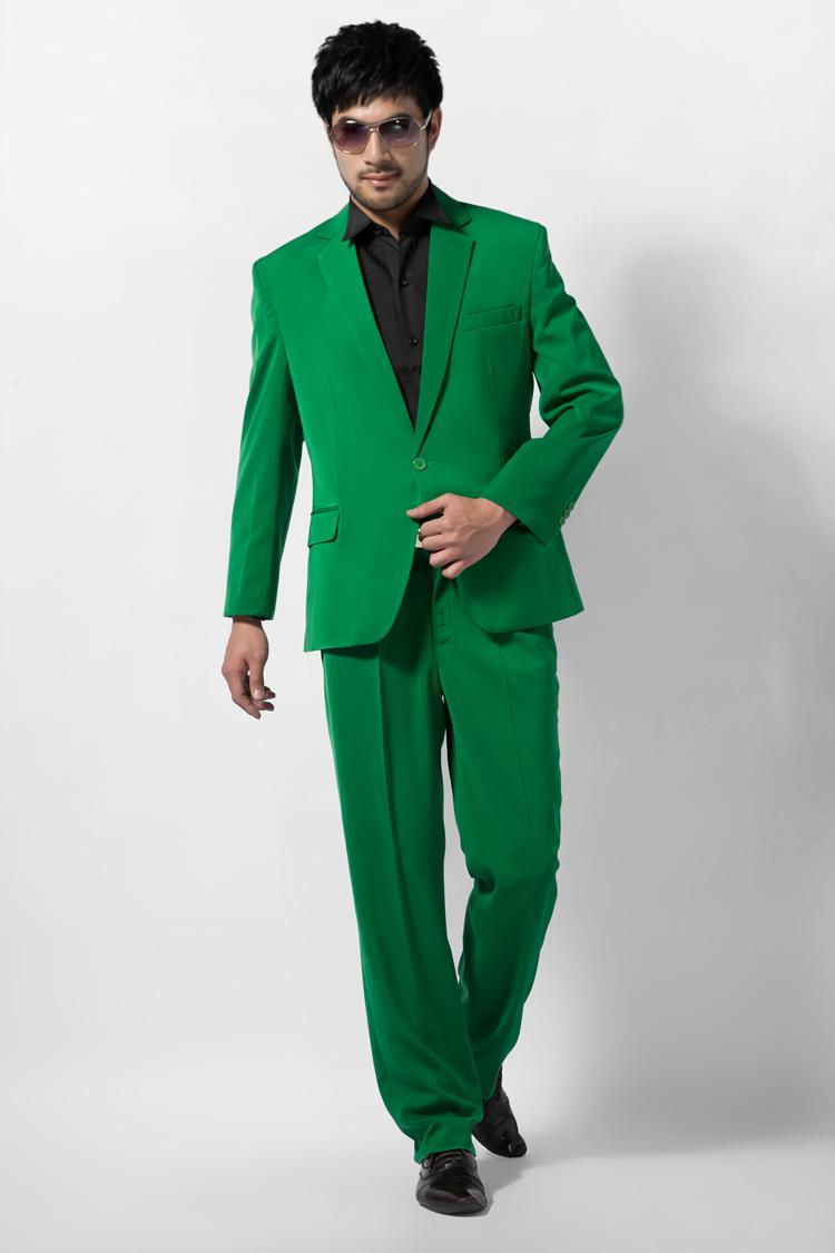 Men Wedding Suit Formal Dress Male Green Suit Male Multicolour ...