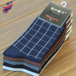 Wholesale-FLYING Classic Retro Mens Cotton Socks High Quality Genuine Cotton Warm Winter Diabetic Sock Men Basketball Socks Sok