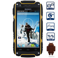 dustproof - Original Discovery V8 Inch MTK6572 Dual Core Mobile phone Android Dual Cameras GPS Dustproof Shockproof