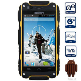 Wholesale Original Discovery V8 Inch MTK6572 Dual Core Mobile phone Android Dual Cameras GPS Dustproof Shockproof
