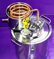 Wholesale DIY Home Gal Litres Alcohol Beer Wine Whisky Distiller Moonshine Ethanol Copper Still Stainless Boiler amp Thumper Keg