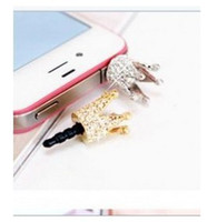 basic mobile phones - 2015 hot crystal dust plug for phone earphones plug basic mobile phone A4016