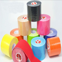 Wholesale Brand New Kinesiology Kinesio Roll Cotton Elastic Adhesive Muscle Sports cm x m Tape Bandage Physio Strain Injury Support