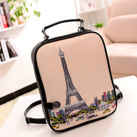 bag lady variety - new lady fashion casual backpack bag packet variety College wind pattern printing PU leisure bag