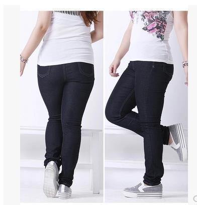 2017 2015 Fat Boyfriend Jeans For Women Elastic Waist Skinny Jeans ...