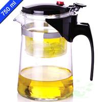 teapots - New Design Tea Pot ml Simple Tea Kettle Teapot Heat Resistan Glass Convenient Office Teapot Set Kettle for Tea