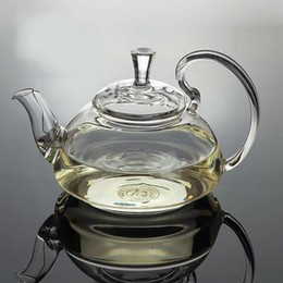 Wholesale Glass tea pot ml flowering high borosilicate glass teapot with a stainless steel ball inside for filtering hot sale teapots