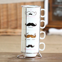 best tea mug - mustache ceramic coffee mug set each set porcelain tea cup set zakka new arrival drinkware best gift set