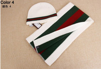 Wholesale Three color Men and women hat scarf two piece