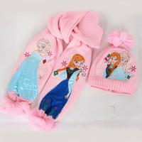 best winter gloves for kids - autumn winter girls elsa amp Anna frozen scarf hat sets children scarf amp cap best christmas gift for kids girls