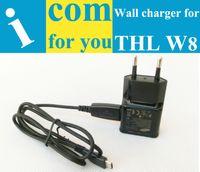 Cargador de pared recorrido del USB para THL W8 W8 W8S Security + W8e W7 W5 W3 W100 W300 W200 W1 W2 V11 V12 V9 W6 W11 + USB Cable de alta calidad