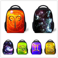 Wholesale new design children school bags small bookbag for boys Constellation backpack universe space schoolbag kindergarten galaxy bag