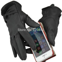 bamboo touch tablet - Windproof Outdoor lady s Gloves Women leather glove Stretchy Soft winter Warm touch screen gloves for mobile phone tablet pad