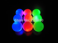 golf ball led - Promotion Red Blue Green LED Constant Shining luminous Golf Balls With Colorful Glowing Golf Training Ball