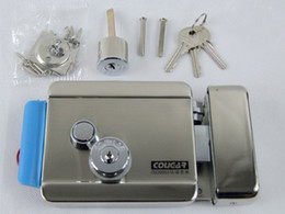 UK free shipping doorbell - Wholesale-FREE SHIPPING Brand New Video Intercom Electronic Door Lock For Access Control System Door Phone Doorbell Door Intercom in stock