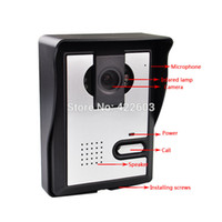 Wholesale quot Color Video door phone Night vision Camera doorbell rain cover doorphone