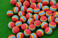 golf balls - EVA Sponge Golf Training Ball Elastic Indoor Lightweight Golf Practice Ball Foam Rainbow Ball
