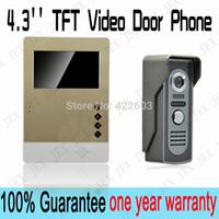 video door entry system - New luxury gold Wiredrawing shell inch Video Door Phone Doorbell Security Entry Intercom System doorphone