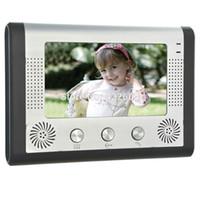 Wholesale Home quot LCD Color Video Door Phone Night Vision Camera doorphone wired video door bell