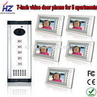 video door entry system - quot wired handsfree apartments video door phone video entry intercom system for villa supporting rfid card