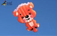 Wholesale Outdoor Fun Sports NEW Nylon Cloth Power Carton Bear Software Kite Good Flying