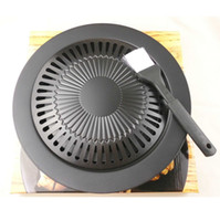 barbecue cast iron - New Cooking Tools Non stick Gas Grill Pan Refined Iron Black Barbecue BBQ Frying Roasting Pans Outdoor Saucepan Panela Sartenes